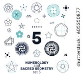 sacred geometry and numerology... | Shutterstock .eps vector #605350877