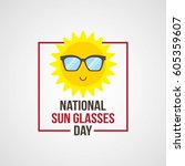 national sun glasses day vector ... | Shutterstock .eps vector #605359607