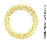 gold laurel wreath. award for... | Shutterstock .eps vector #605361911