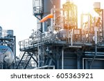 oil and gas industry refinery... | Shutterstock . vector #605363921