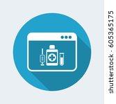 medical digital page   vector... | Shutterstock .eps vector #605365175