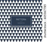 geometric seamless pattern.... | Shutterstock .eps vector #605367785