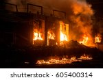 accident at a steel mill   Shutterstock . vector #605400314