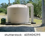 water storage tank | Shutterstock . vector #605404295