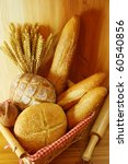 assorted bread on wooden table... | Shutterstock . vector #60540856