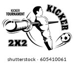 poster for table football.... | Shutterstock .eps vector #605410061
