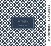 geometric seamless pattern.... | Shutterstock .eps vector #605415881