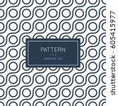 geometric seamless pattern.... | Shutterstock .eps vector #605415977
