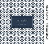 geometric seamless pattern.... | Shutterstock .eps vector #605415989