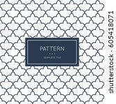 geometric seamless pattern.... | Shutterstock .eps vector #605418071
