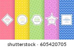 cute bright seamless pattern... | Shutterstock .eps vector #605420705