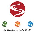 s circle business logo and... | Shutterstock .eps vector #605431379