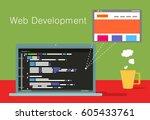 vector template. concept of web ... | Shutterstock .eps vector #605433761