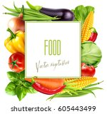 vector menu pattern with... | Shutterstock .eps vector #605443499
