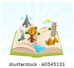 wonders of the world in a book... | Shutterstock . vector #60545131