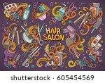 vector hand drawn doodle... | Shutterstock .eps vector #605454569