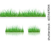 Set Green Grass Borders  Vector ...