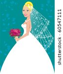Raster version of a beautiful blond woman on her wedding day. - stock photo