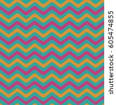 seamless wavy lines background... | Shutterstock .eps vector #605474855