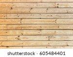wood plank wall background... | Shutterstock . vector #605484401