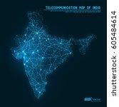 abstract telecommunication... | Shutterstock .eps vector #605484614