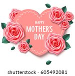 other's day card with heart and ... | Shutterstock .eps vector #605492081