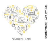 vector illustration   natural...   Shutterstock .eps vector #605494631