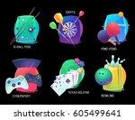 sport items or equipment for... | Shutterstock .eps vector #605499641