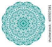 mandala. vector ethnic oriental ... | Shutterstock .eps vector #605507381