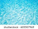 blue marine pool or sea wave...   Shutterstock . vector #605507969