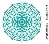 mandala. vector ethnic oriental ... | Shutterstock .eps vector #605507975