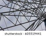 part of ferris wheel  | Shutterstock . vector #605519441