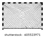 soccer goal vector. handball... | Shutterstock .eps vector #605523971