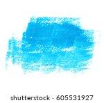 blue watercolor dry brush paint ... | Shutterstock .eps vector #605531927