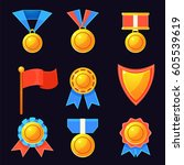 set of medal. vector...