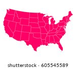 map of usa | Shutterstock .eps vector #605545589