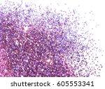 Purple Glitter Sparkles On...
