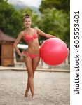 Fitness Woman Bikini Model Wit...