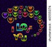 love message. vector...   Shutterstock .eps vector #60555376