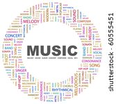 music. word collage on white... | Shutterstock .eps vector #60555451