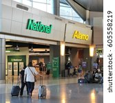 Small photo of LAS VEGAS, USA - APRIL 13, 2014: Alamo and National car rental airport office in Las Vegas. Both brands are owned by Enterprise Holdings, company employing 74,000 people (2013).