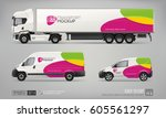 hi detailed transport mockup... | Shutterstock .eps vector #605561297