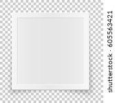 square image frame concept ... | Shutterstock .eps vector #605563421
