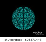 abstract vector illustration of ... | Shutterstock .eps vector #605571449