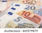 money notes euro | Shutterstock . vector #605579879