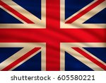 the national flag of united... | Shutterstock .eps vector #605580221