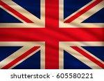 the national flag of united... | Shutterstock .eps vector #605580221