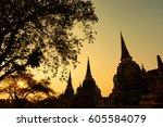 ayutthaya  thailand   march  12 ... | Shutterstock . vector #605584079