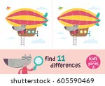 find the differences. kids... | Shutterstock .eps vector #605590469