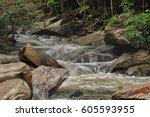Mae Ya Waterfall With Moss And...